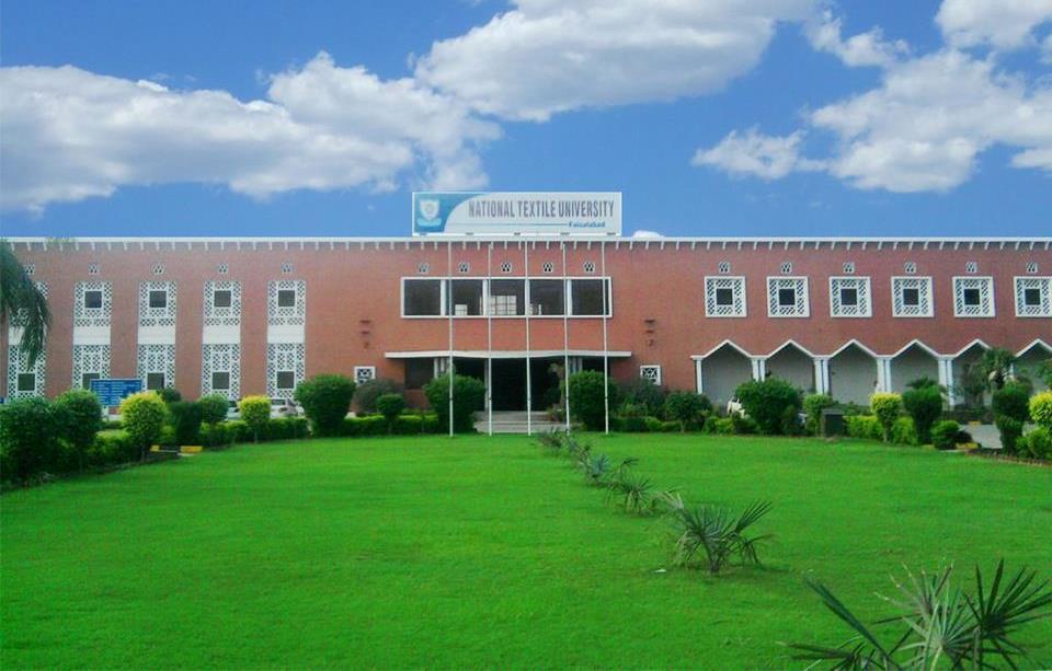 National Textile University NTU Faisalabad Admission 2018