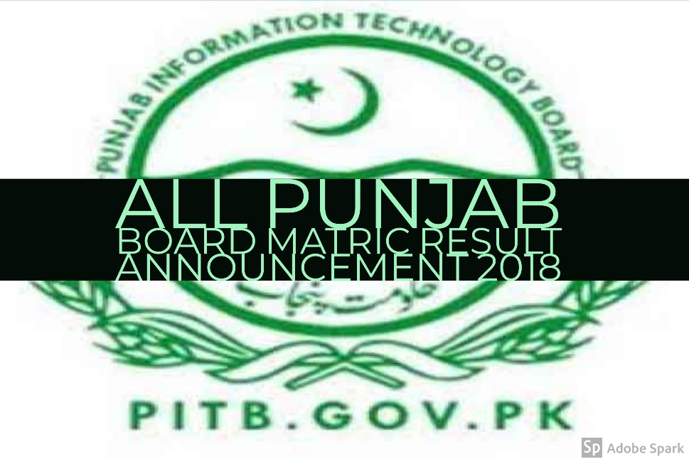 All Punjab Board Matric Result Announcement 2018