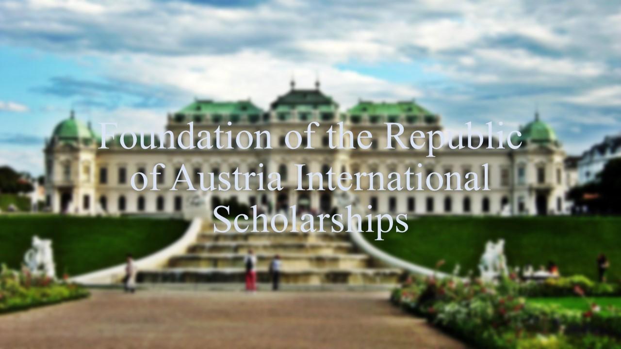 Foundation of the Republic of Austria International Scholarships