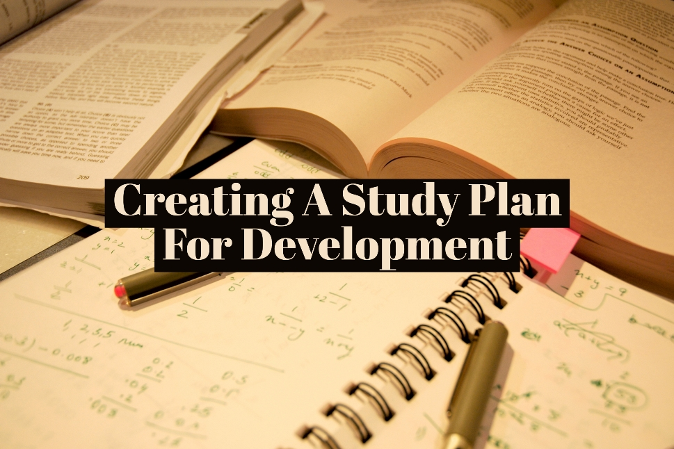 Creating A Study Plan For Development